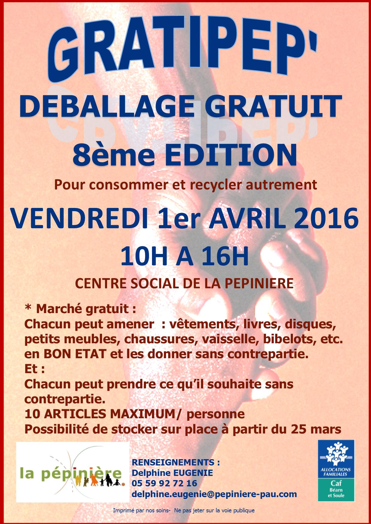 affiche Gratipep avril2016